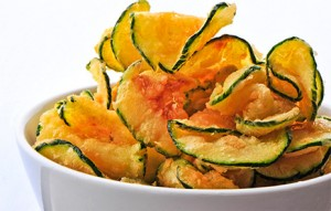 Courgette chips with paprika