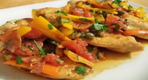 Mediterranean chicken with peppers