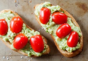 Roasted Rye Bread with Cherry Tomatoes