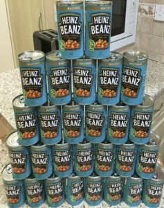 28 tins of baked beans