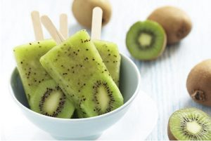 Healthy kiwi ice lollies