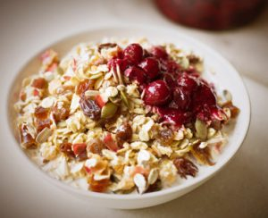 Muesli and berry medley