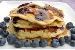 Blueberry pancakes with buckwheat