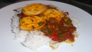 Boiled-egg tomato curry