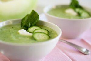 Melon and cucumber detox soup