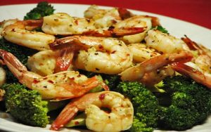 Prawns and broccoli bake