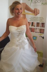 Happy Vicky's wedding weight loss with The Slimming Rooms